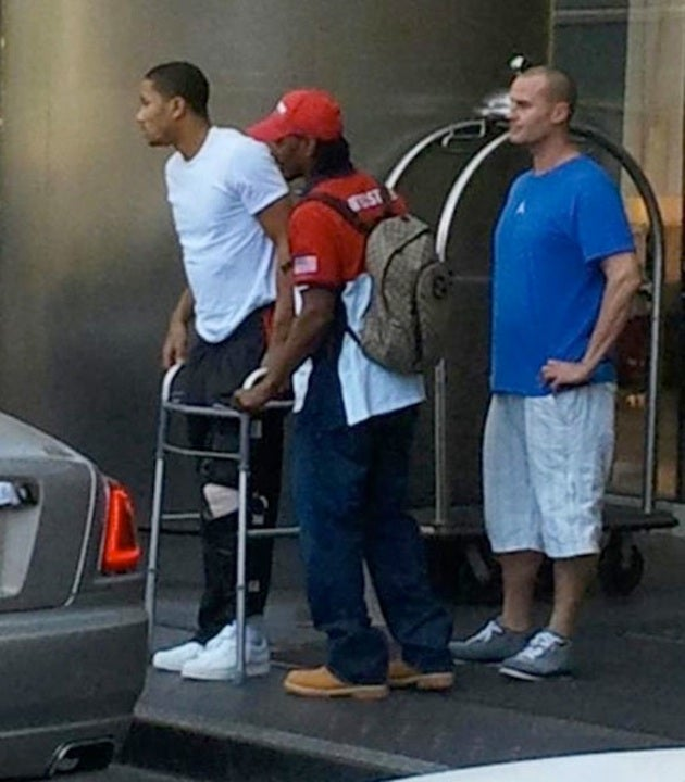 Derrick Rose Is Now Getting Around With A Walker