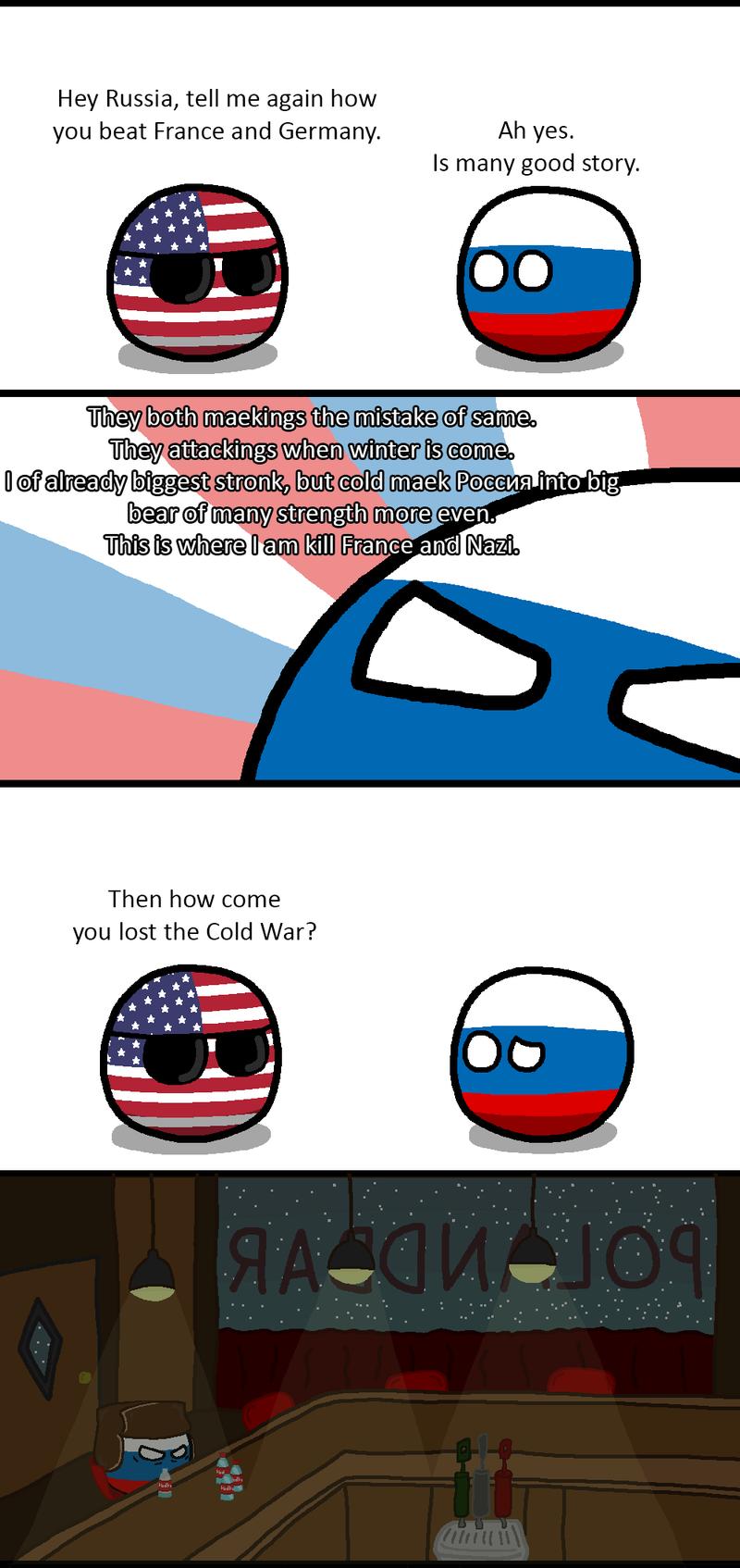 Daily Polandball: The Russian Winter