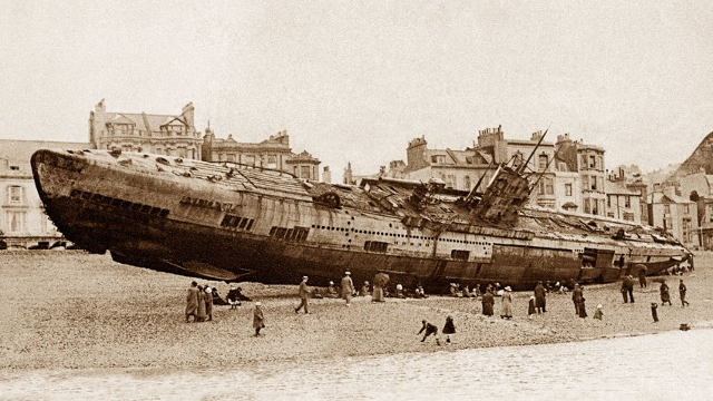 A 'submarine graveyard' has been found off the coast of England