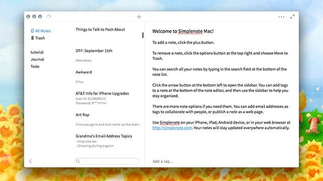 Simplenote Brings Excellent Synchronized Plain Text Notes to the Mac