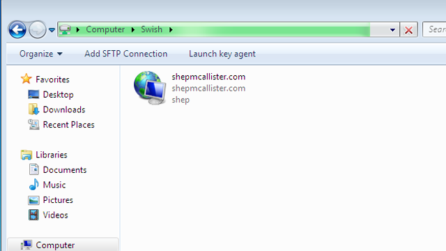 Swish Navigates SFTP Connections in Windows Explorer