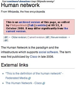 Federated was warned about Wikipedia spam