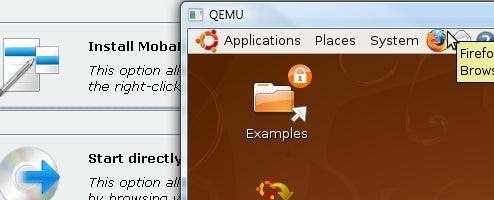 MobaLiveCD Runs Linux Live CDs Inside Windows