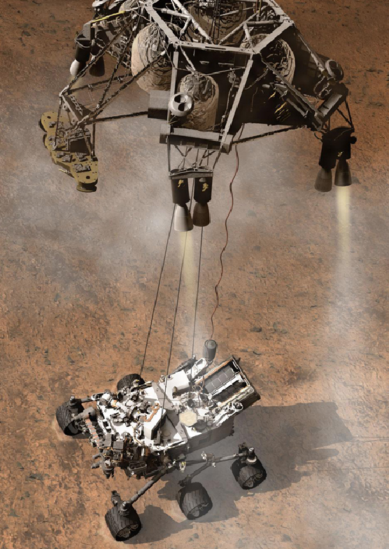 NASA will attempt to photograph the Curiosity landing. From an entirely different spacecraft.