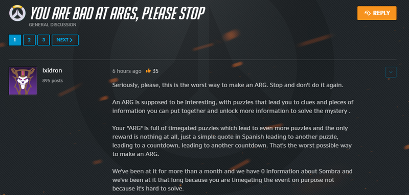 Overwatch Players Are Sick Of The Sombra ARG [UPDATE]