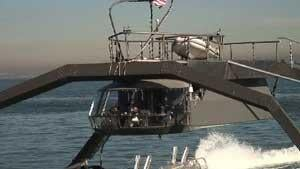 Proteus: Spider-Like Go-Fast Boat Zips Around the Bay in Dazzling Demo