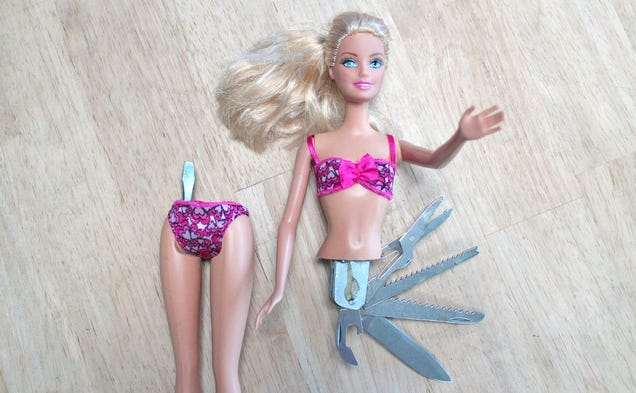 Make Barbie More Useful By Turning Her Into a Swiss Army Knife