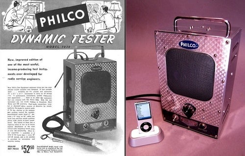 The Philco Signal Tracer iPod Dock