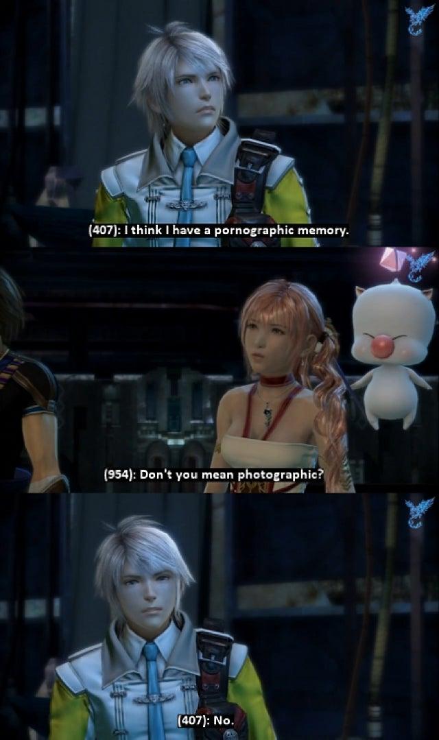 It's Final Fantasy XIII, But with Drunken Sex Talk
