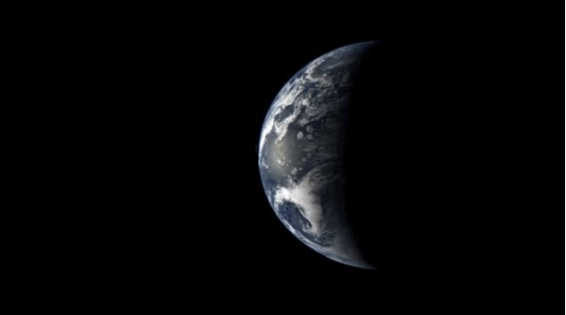This is what it looks like to leave Earth