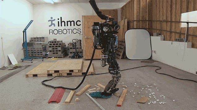 Human-ish ATLAS Robot Can (Almost) Traverse a Teenager's Messy Bedroom