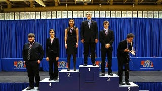 Speech Competition Punctuated With Kid Blowing Chunks On Medal Stand