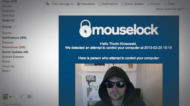 Mouse Lock Sends You a Picture When Someone Tries to Use Your Computer