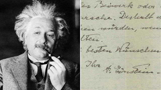 "Einstein's ""I don't believe in God"" letter has sold on eBay — and you're not going to believe the price"