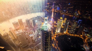 Stunning photographs capture the day and night of Shanghai and Hong Kong