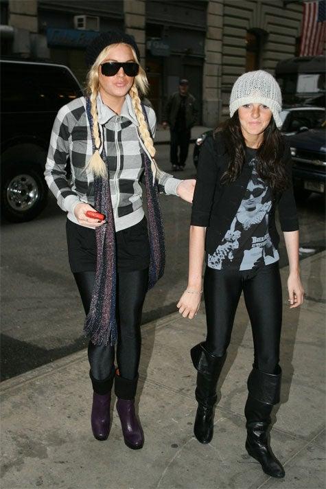 Lindsay Lohan's Sister Ali: Also Loves Leggings