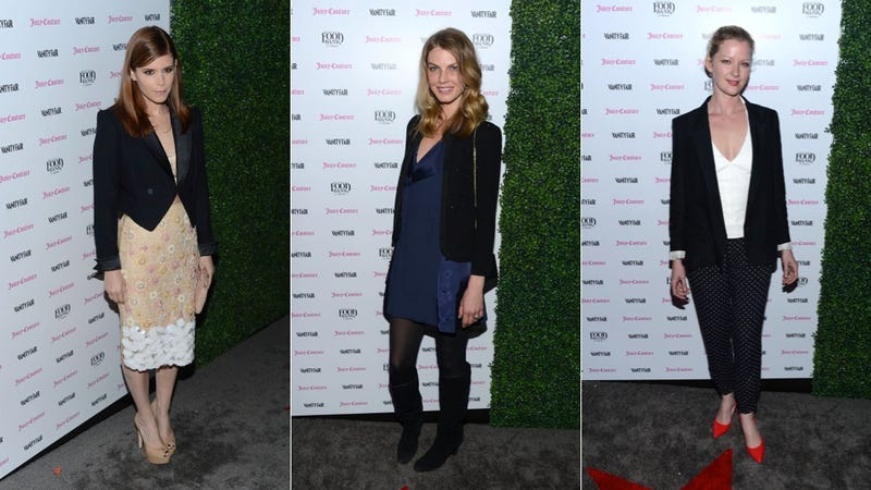 Weird Prints and Pretty Hair at the Vanity Fair Calendar Party