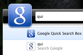 Google Quick Search Box for Mac Updates