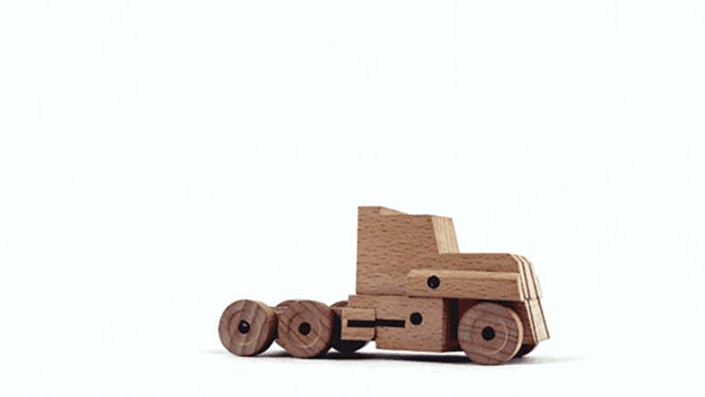 Amazing Wooden Transformers Change Instantly Into Small Chunks Of Tree