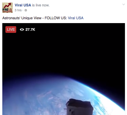 Don't Trust the 'Live' Space Videos You See on Facebook