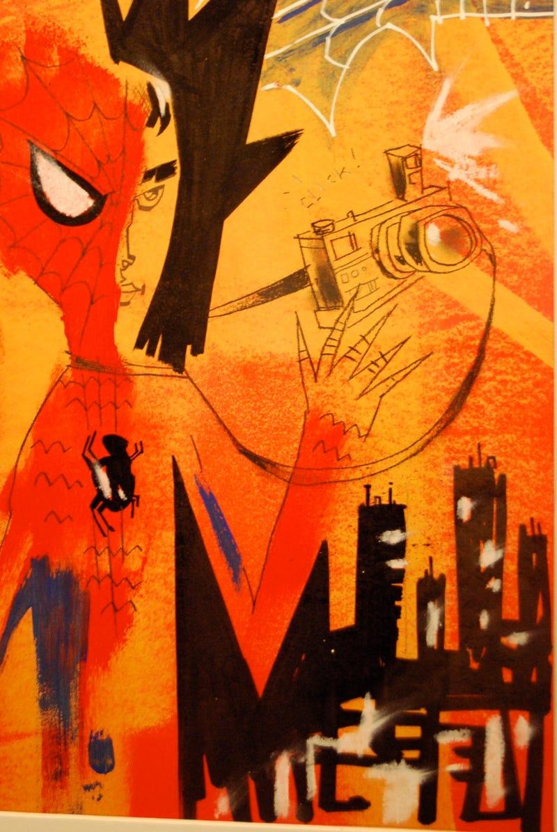Trippy Re-Interpretations of Stan Lee's Comic Book Characters at Art Show