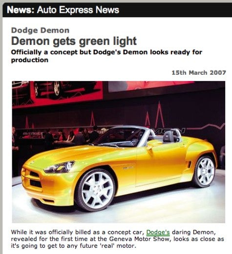 Lost in Translation: Dodge Demon Not Quite Green, Surely Not Lit