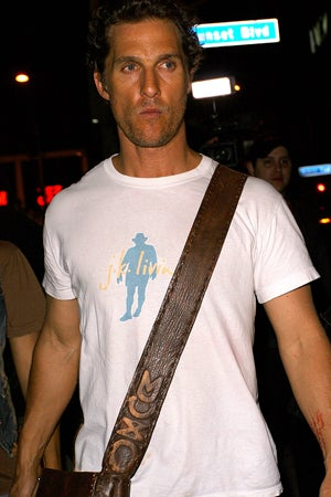 Breaking News: Matthew McConaughey's Flip-Flop Missing!