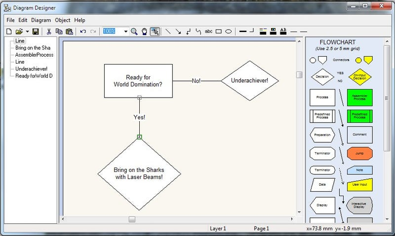 Diagram Designer Is a Free and Simple Diagram Designer