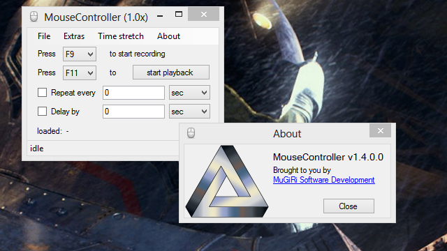 MouseController Records and Automates Mouse Actions