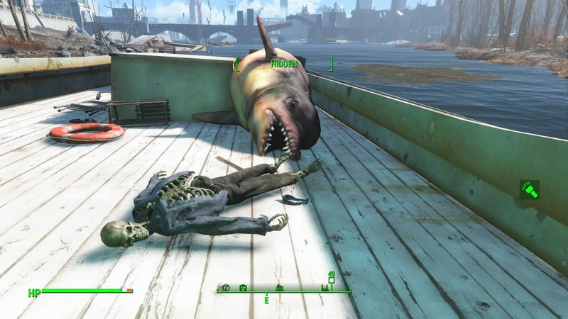 how to see underwater fallout 4
