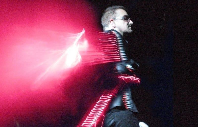 Bono Gets Laser Jacket, Public Gets Dizzy
