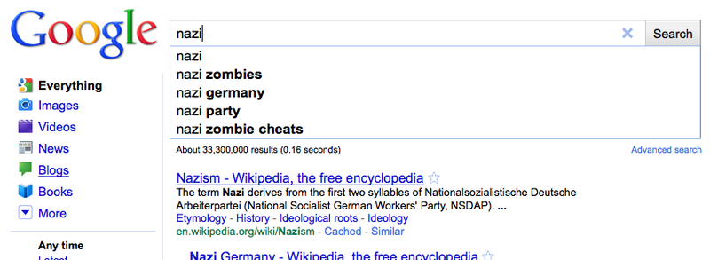 Nazi Zombies Take Over Google