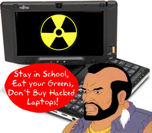 "T Pities Fool Who Bids on Hacked Fujitsu U810 With Live Virus ""Still Present"""