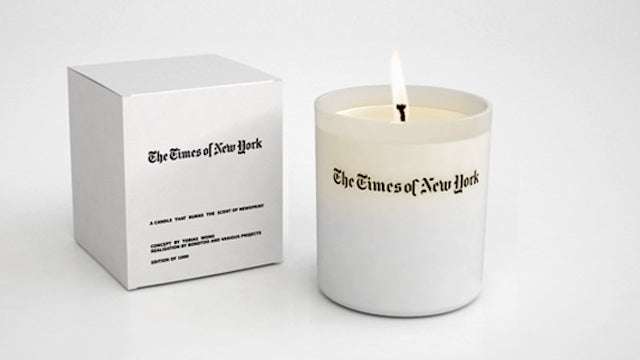 A Newspaper Scented Candle Probably Smells Like Death