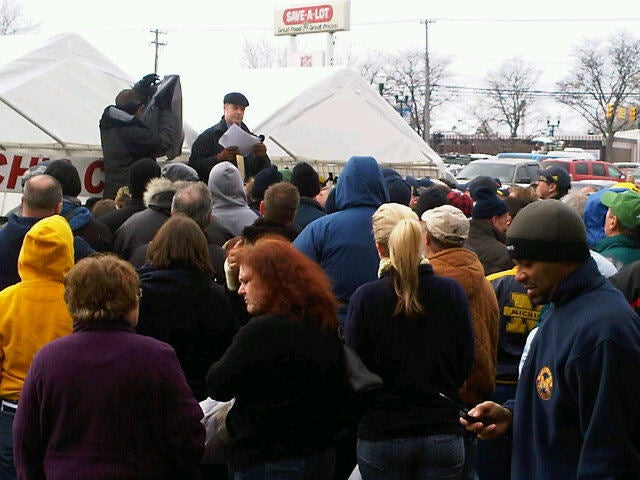 """Here's A Photo From The """"Festive"""" Rich Rod Tent Sale (With Updates!)"""