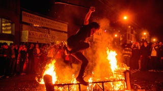 San Francisco Brings Fire And Fistfights To World Series Celebrations