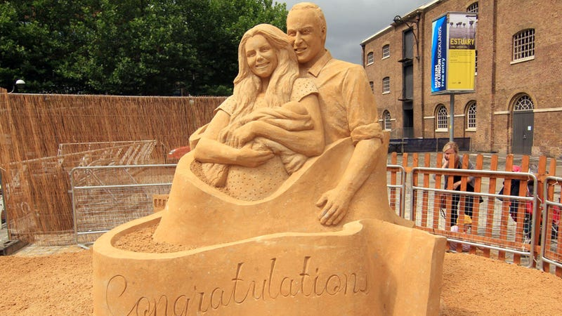 Quaint Sand Sculpture Depicts Royal Family as Terrifying Beach Demons