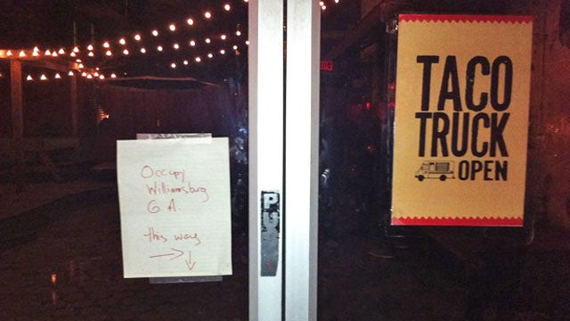 Occupy Williamsburg Occurred at a Bar with a Taco Truck
