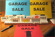 Get a free instant garage sale kit