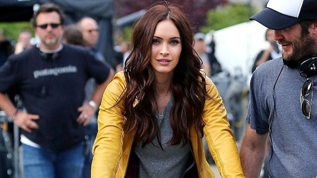 Michael Bay's TMNT features Megan Fox on a trampoline, obviously