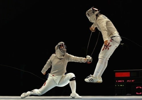 Fencer Finds A Jumping Off Point