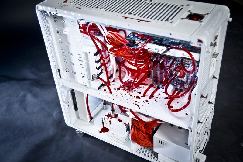 Oh God, This PC Casemod is Bleeding to Death