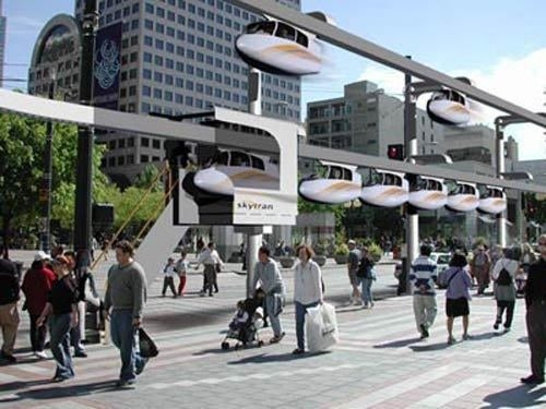 """Sky Pod"" System Lets Commuters Ride In Personalized Pods"