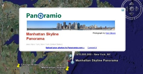 Google Earth adds Wikipedia, Panoramio layers