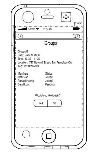 Apple's iGroups Patent Would Instantly Connect You With Nearby iPhone Humans