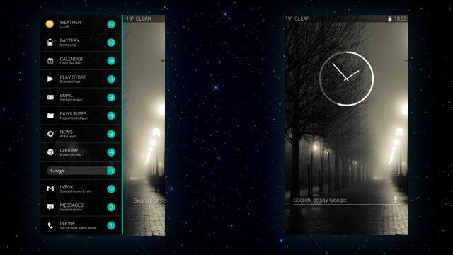 The Sideswipe Home Screen
