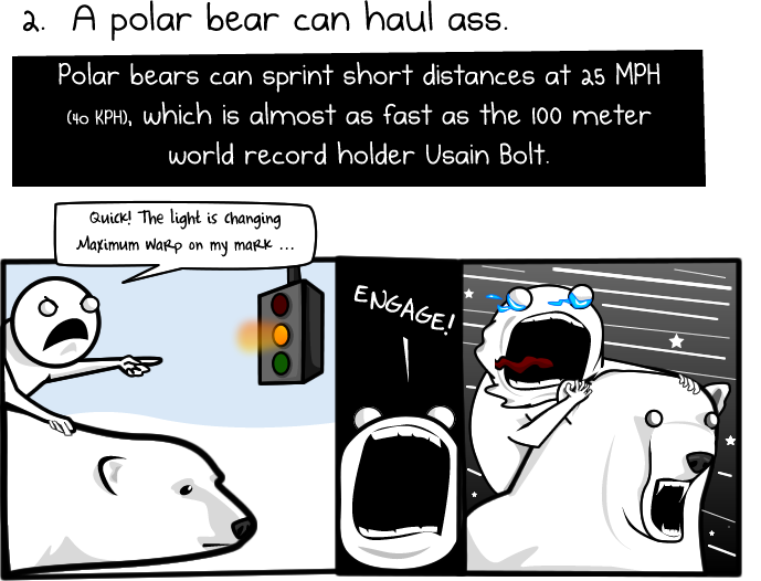 The Oatmeal: 6 Reasons To Ride A Polar Bear To Work