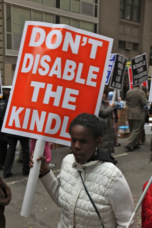Photos and Video From the National Federation of The Blind's Kindle 2 Protest
