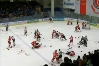 Russian Hockey League Is Gonna Need A Bigger Penalty Box