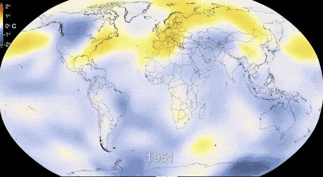 62 Years of Global Warming in One Terrifying GIF